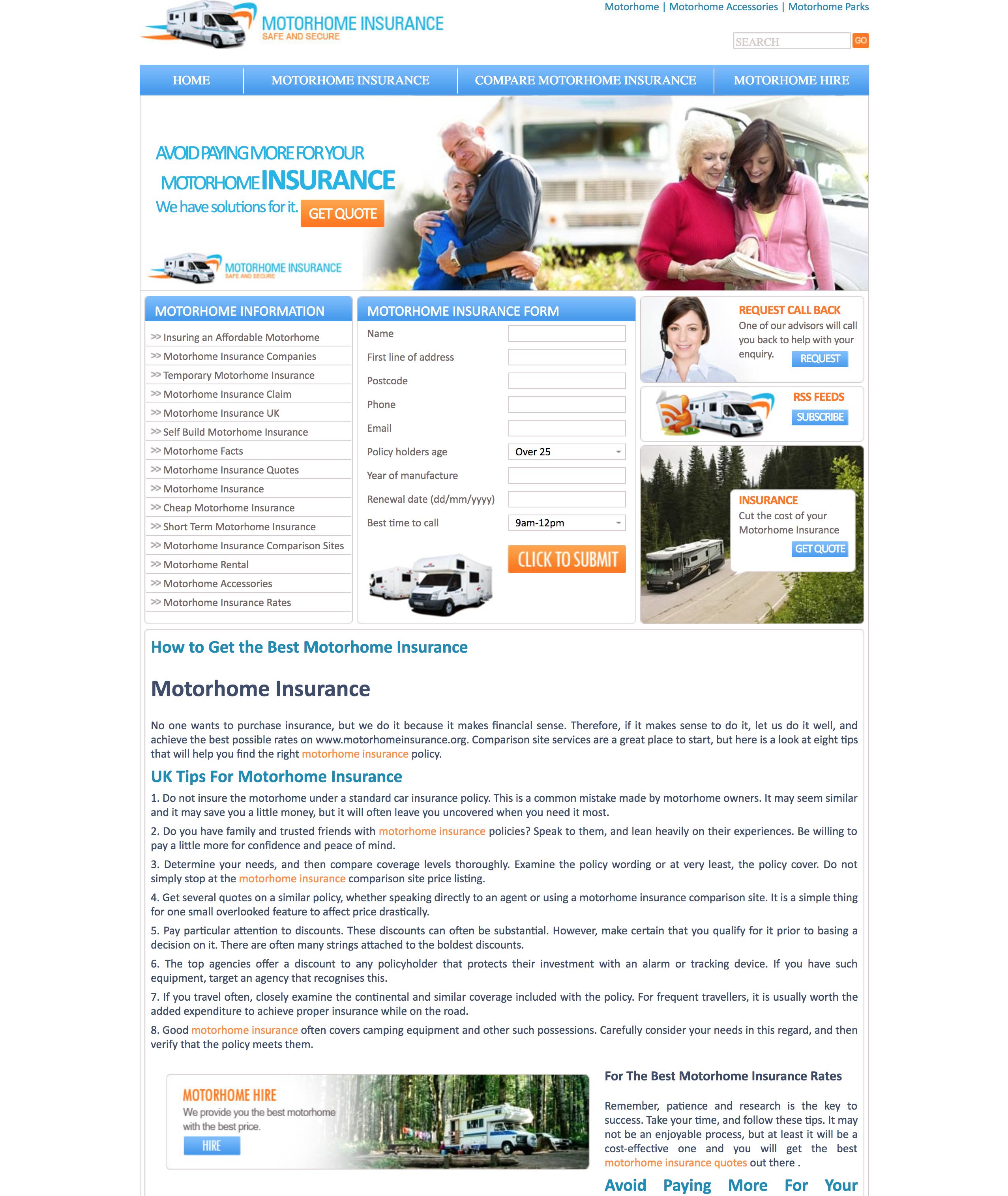 Lead Gen Website Used in 2010