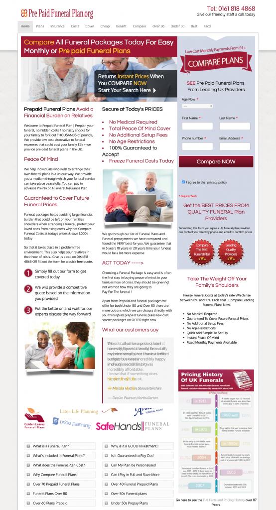 Prepaid Funeral Plan Website