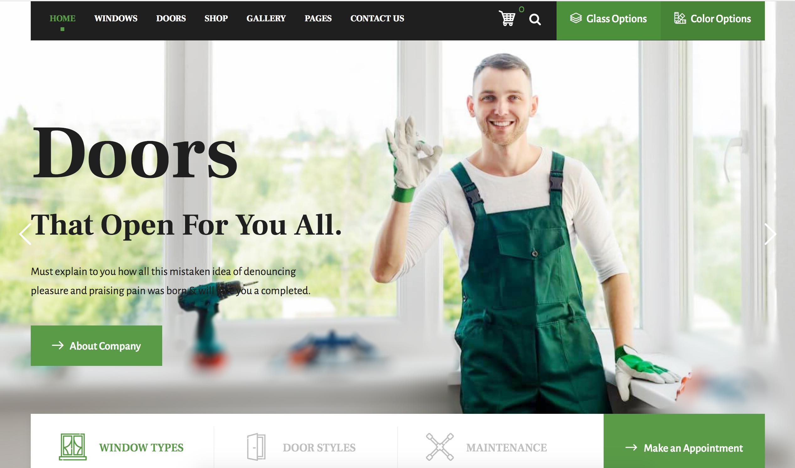 Doors, Garage Doors, BI Fold Doors, Websites We Built
